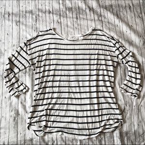 A.n.a stripped blouse